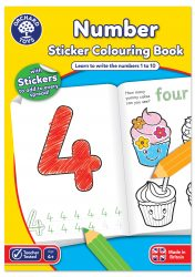 Orchard Toys Number Colouring (Book with Stickers)