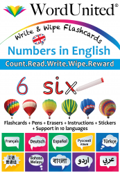 Numbers in English - Write & Wipe (Flashcard kit)