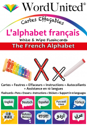 The French Alphabet - Write & Wipe (Flashcard kit)