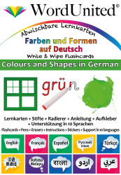 Colours & Shapes in German - Write & Wipe (Flashcard kit)