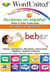 Actions in Spanish - Write & Wipe (Flashcard kit)
