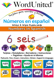 Numbers in Spanish - Write & Wipe (Flashcard kit)