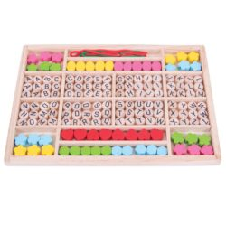 Bigjigs Wooden Alphabet Lacing & Threading Beads Tray