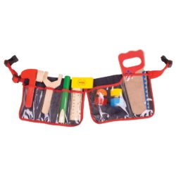 Bigjigs Toys Red Carpenter's Tool Belt