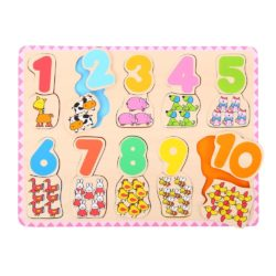 Bigjigs Number and Colour Matching Jigsaw Puzzle
