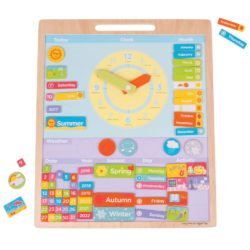 Bigjigs Wooden Magnetic Calendar and Weather Board