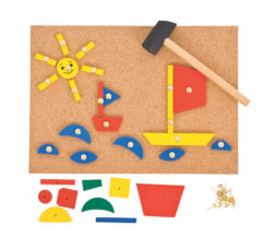 Bigjigs Pin and Tap a Shape Art Set