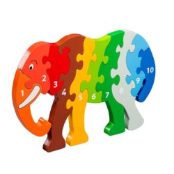 Lanka Kade Fair Trade Jumbo Elephant 1-10 Number Jigsaw Puzzle (Numeracy Jigsaw)