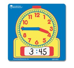 Learning Resources Wipe-Clean Clock Set