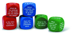 Learning Resources Reading Comprehension Dice Cubes