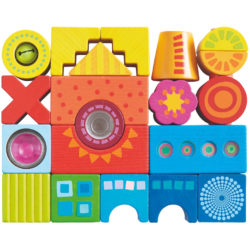HABA Colourful Building Sensory Blocks (21 Bricks)