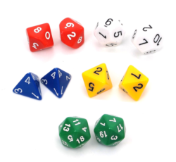 TickiT Polyhedral Dice Assortment (Pack of 10)