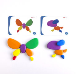 Edx Education Rainbow Pebbles with Activity Cards
