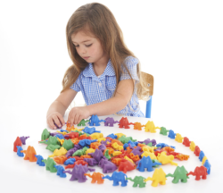 3D Coloured Connecting Counting Camels (Pack of 120 Weighted Camel Counters)