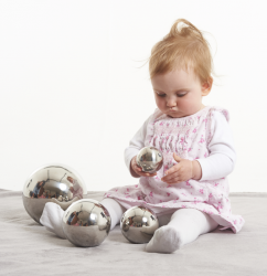 TickiT Silver Mirror Sensory Reflective Balls (Pack of 4)