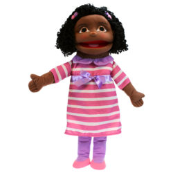 The Puppet Company - Medium Girl with Dark Skin Tone (Hand Puppet)
