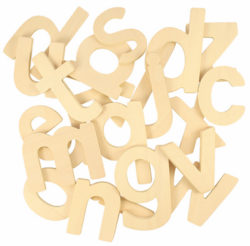 Bigjigs Lowercase ABC Letters Drawing Templates (Wooden Alphabet)