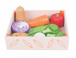 Bigjigs Wooden Vegetable Crate (Play Food)