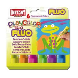 Playcolor Fluo One Solid Colours (Pack of 6)