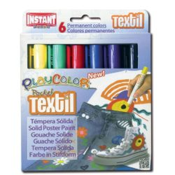 Playcolor Textile Solid Poster Paint Pocket Colours (Pack of 6)