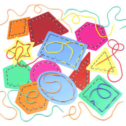 Lace the Shapes Threading Set (12 Flexible Lacing Cards   Laces)