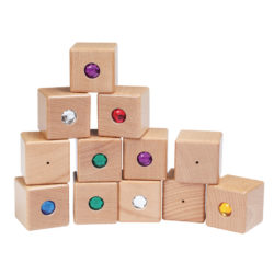 Sound & Colour Matching Sensory Blocks (12 Bricks)
