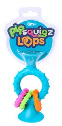 Fat Brain Toys PipSquigz Loops Rattle (Teal)