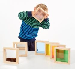 TickiT Sensory Light & Colour Square blocks (7 Bricks)