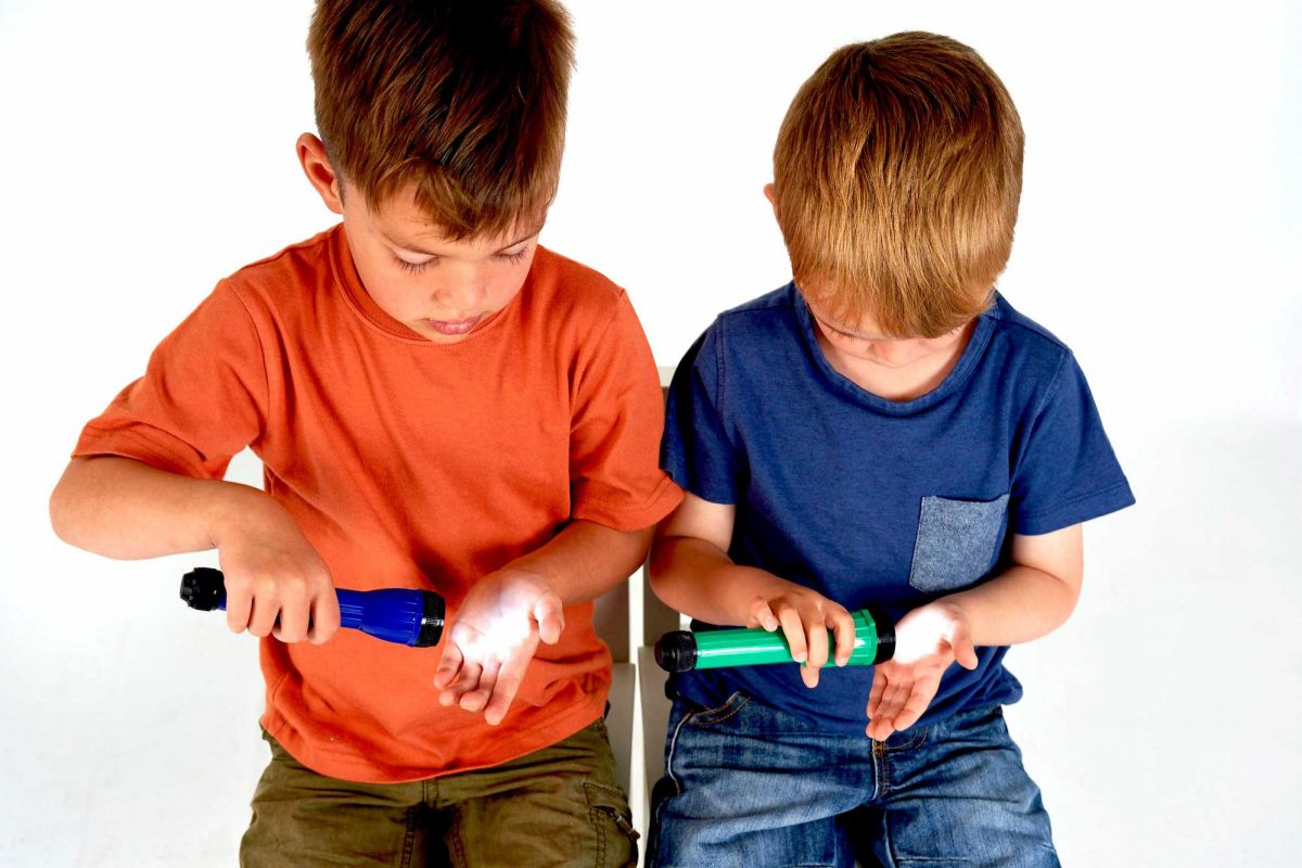 outdoor play sensory SEN Handy LED torch Science experiment