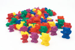 Back Pack Bear Weighted Counters (96 Counting Bears)