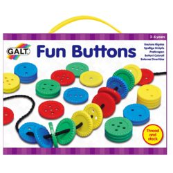 Galt Toys Threading & Counting Fun Buttons (Lacing & Sorting Set)