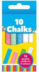Galt Toys Chalks (10 Pieces - White, Blue, Green & Pink)
