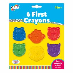 Galt Toys First Crayons (Easy to Grip Crayons for Young Children - 6 Pieces)