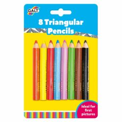 Galt Toys 8 Chunky Triangular Colouring Pencils