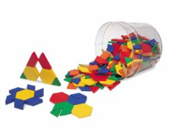 Learning Resources Plastic Pattern Shapes (250 Blocks)