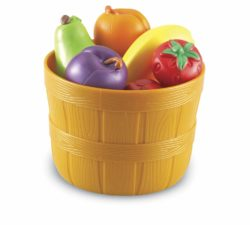 Learning Resources New Sprouts Bushel of Fruit in Bucket (Play Food)