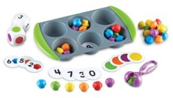 Learning Resources Mini Muffin Match Up Sorting Tray (Maths Activity Set)
