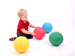 TickiT Easy Grip Large Tactile Ball Set (4 Sensory Textured Balls in Red, Green, Blue & Orange)