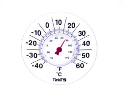 TickiT Large Clear Suction Window Thermometer