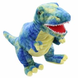 The Puppet Company - Blue T-Rex Baby Dino (Soft Toy   Dinosaur Puppet)