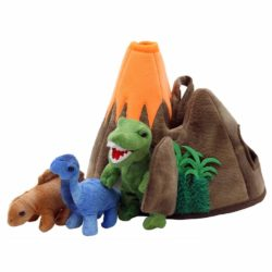 The Puppet Company - Dinosaur Volcano (Hide Away Finger T-Rex & Dinosaurs Puppet Set)
