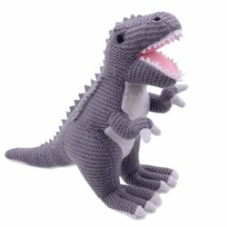 Wilberry Knitted T-Rex Dinosaur (Soft Toy)