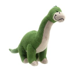 Wilberry Knitted Brontosaurus Dinosaur (Soft Toy)