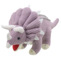 Wilberry Knitted Triceratops Dinosaur (Soft Toy)
