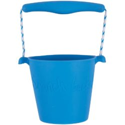 Scrunch Foldable Soft Bucket (Blue - Sand, Water and Beach Toy)