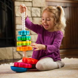 Folkmanis Spinagain (Stacking and Twirling Toy)