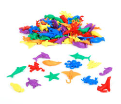 Edx Education Aquatic Counters (Pack of 84 Counting Pieces - Sea Animals)