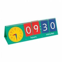 Edx Education Tell the Time Flip Chart - Large Analogue & Digital Clock (Teacher Demonstration)