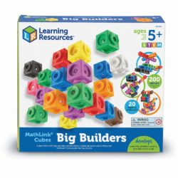 Learning Resources MathLink Cubes Big Builders (200 Interlocking & Linking Construction Blocks)