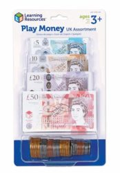 Learning Resources Play Money UK Assortment (Notes + Coins)